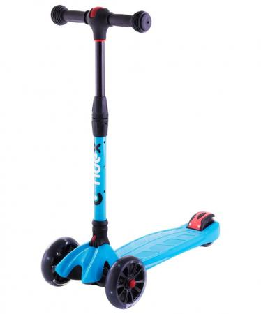Самокат трехколёсный RIDEX Stark 135/90 мм синий УТ-00011545 самокат трехколёсный impulse sa sa1702 blue 120 80 мм синий sa1702