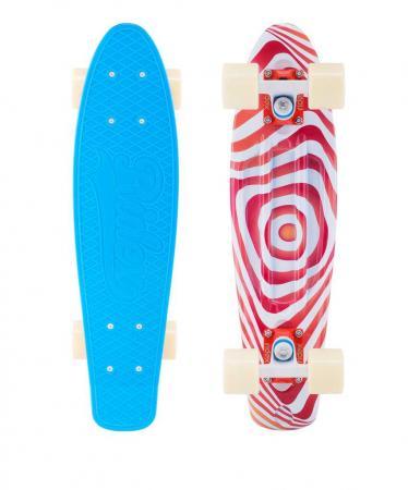 Скейтборд четырёхколёсный Ridex Crisp 60x45 мм синий УТ-00011598 скейтборд ridex miami ут 00014316