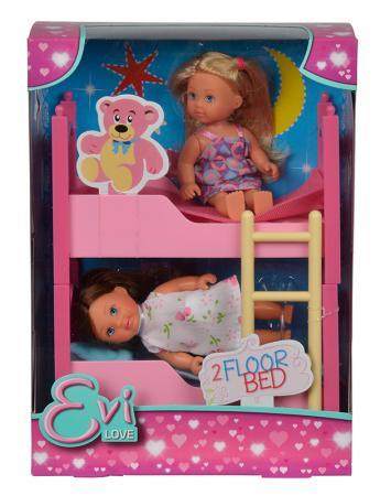 Игровой набор Evi С кроваткой 5733847 evi игровой набор simba еви с братиком с двухъярусной кроваткой 12 см