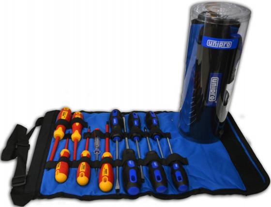 цена на Набор отверток UNIPRO U-905 - комбинация диэлектрических и слесарных отверток 12 шт.