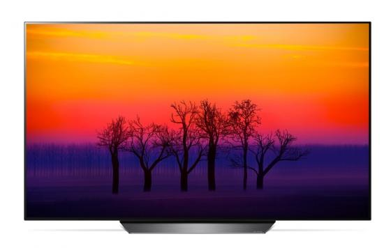Плазменный телевизор 55 LG OLED55B8 серебристый 3840x2160 100 Гц Smart TV Wi-Fi RJ-45 Bluetooth USB HDMI телевизор 50 lg 50uk6710 4k uhd 3840x2160 smart tv usb hdmi bluetooth wi fi серебристый
