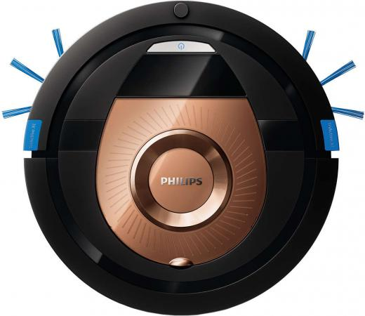 Робот-пылесос Philips SmartPro Compact FC8776/01 сухая уборка чёрный коричневый цена