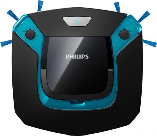 Робот-пылесос Philips SmartPro Easy FC8794/01 сухая влажная уборка чёрный синий недорого