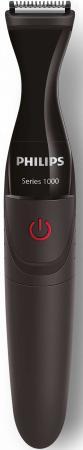 Триммер Philips MG1100/16 черный (насадок в компл:3шт) триммер philips mg1100 16 черный