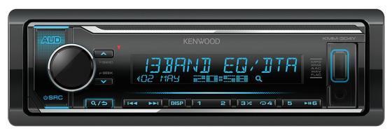 Автомагнитола Kenwood KMM-304Y 1DIN 4x50Вт автомагнитола kenwood kdc 130ur