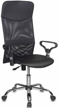 лучшая цена Кресло руководителя Бюрократ CH-600/OR-16 спинка сетка черный сиденье черный Or-16 искусственная кожа крестовина хром