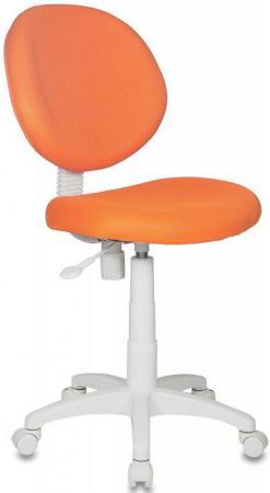 Кресло детское Бюрократ KD-W6/TW-96-1 оранжевый TW-96-1 (пластик белый) кресло детское бюрократ kd 8 на колесиках оранжевый [kd 8 tw 96 1]