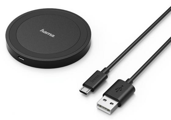 цена на Беспроводное зарядное устройство HAMA Basix Line 1A 1A microUSB черный