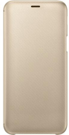 Чехол (флип-кейс) Samsung для Samsung Galaxy J6 (2018) Wallet Cover золотистый (EF-WJ600CFEGRU) чехол флип кейс samsung для samsung galaxy a6 2018 wallet cover фиолетовый ef wa600cvegru