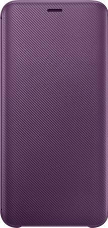 Чехол (флип-кейс) Samsung для Samsung Galaxy J6 (2018) Wallet Cover фиолетовый (EF-WJ600CVEGRU) чехол флип кейс samsung для samsung galaxy j6 2018 wallet cover пурпурный ef wj600ceegru