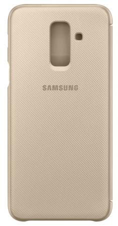 Чехол (флип-кейс) Samsung для Samsung Galaxy A6+ (2018) Wallet Cover золотистый (EF-WA605CFEGRU) цена и фото