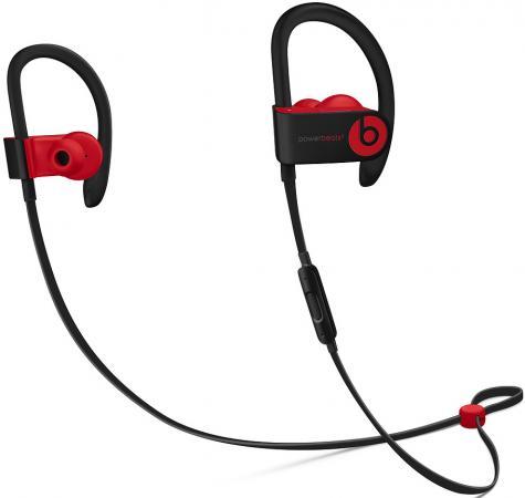 Гарнитура вкладыши Beats Powerbeats 3 Decade Collection черный/красный беспроводные bluetooth (крепление за ухом) гарнитура мониторы beats studio3 skyline collection черный беспроводные bluetooth оголовье