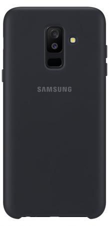 Чехол (клип-кейс) Samsung для Samsung Galaxy A6+ (2018) Dual Layer Cover черный (EF-PA605CBEGRU) клип кейс samsung dual layer ef pa605 дляgalaxy a6 золотистый