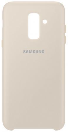 Чехол (клип-кейс) Samsung для Samsung Galaxy A6+ (2018) Dual Layer Cover золотистый (EF-PA605CFEGRU) чехол samsung ef aj730tfegru для samsung galaxy j7 2017 jelly cover золотистый