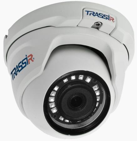 Камера IP Trassir TR-D8121IR2 v2 CMOS 1/2.7 2.8 мм 1920 x 1080 H.264 RJ-45 PoE белый видеокамера ip trassir tr d8121ir2 3 6мм белый