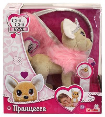 Мягкая игрушка CHI CHI LOVE 5893126 Собачка Принцесса с пушистой сумкой плюшевая собачка chi chi love принцесса с пушистой сумкой 20см
