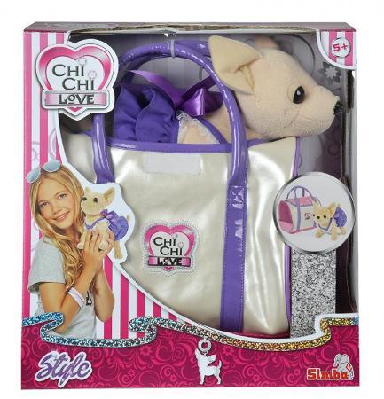 Мягкая игрушка CHI CHI LOVE 5897407 Собачка в платье с сумочкой футболка lin chi feng as1