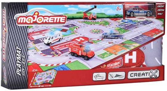 Игровой набор MAJORETTE 2056411 Коврик Creatix SOS, 1 машинка машинка на радио управлении человек паук majorette