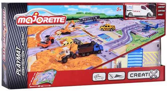Игровой набор MAJORETTE 2056412 Коврик Creatix Construction, 1 машинка majorette игровой набор парковка полицейская станция