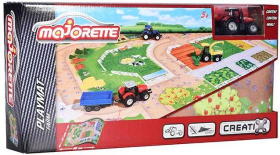 Игровой набор MAJORETTE 2056413 Коврик Creatix Farm, 1 машинка машинка на радио управлении человек паук majorette