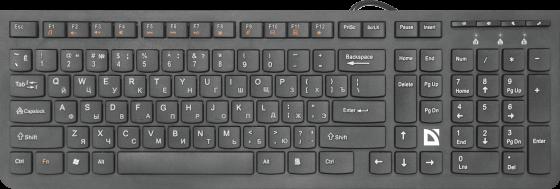 Клавиатура проводная Defender SM-530 USB черный цена и фото