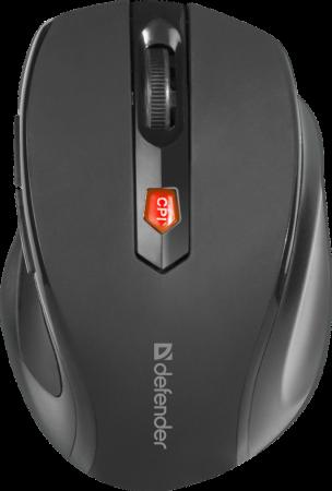 цена на Defender Беспроводная оптическая мышь Ultra MM-315 черный,6 кнопок, 800-1600 dpi