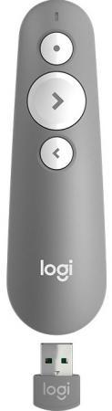 Пульт дистанционного управления Logitech R500 серый USB + Bluetooth 910-005387