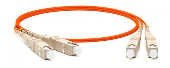 Hyperline FC-D2-50-SC/PR-SC/PR-H-2M-LSZH-OR Патч-корд волоконно-оптический (шнур) MM 50/125, SC-SC, 2.0 мм, duplex, LSZH, 2 м цена и фото