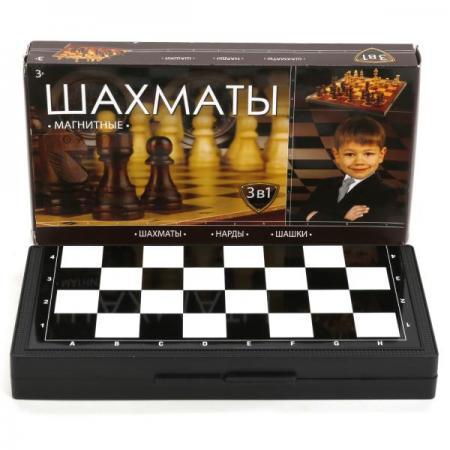 ШАХМАТЫ МАГНИТНЫЕ ИГРАЕМ ВМЕСТЕ 3-В-1 (ШАХМАТЫ, ШАШКИ, НАРДЫ) В РУСС. КОР. в кор.8*12шт настольные игры играем вместе магнитные шахматы 3 в 1 g049 h37005r