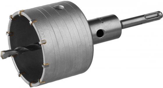 Коронка ЗУБР буровая, коническая посадка центрирующего сверла, SDS-Plus хвостовик, в сборе, 80мм [2918-80_z01] коронка по кирпичу в сборе sds plus d68 мм