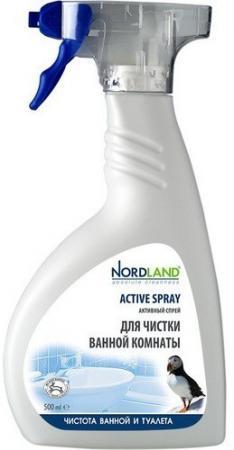 NORDLAND Cпрей активный для чистки ванной комнаты 500мл пена для чистки ванной комнаты nordland с ароматом морской свежести 600 мл 600054