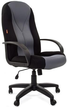 Офисное кресло Chairman 785 TW-11 черный + TW-12 серая NEW (7017615) офисноекресло chairman game 12 черный