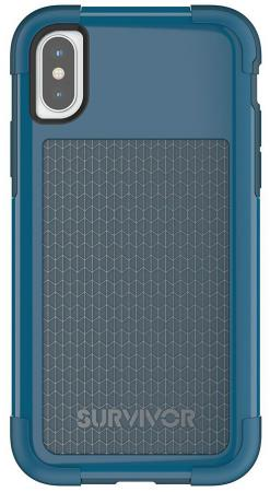 купить Накладка Griffin Survivor Fit для iPhone X синий голубой TA43982 по цене 840 рублей
