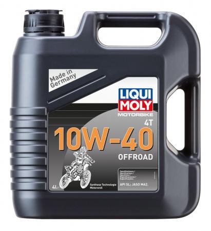 НС-синтетическое моторное масло LiquiMoly Motorbike 4T Offroad 10W40 4 л 3056 нс синтетическое моторное масло liquimoly motorbike 4t offroad 15w50 1 л 3057