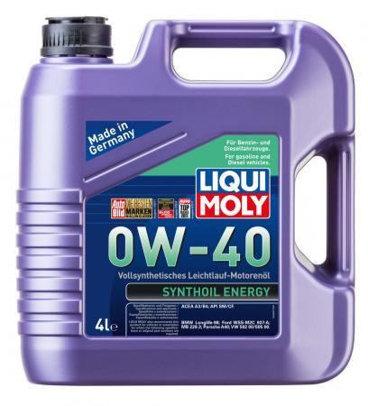 Cинтетическое моторное масло LiquiMoly Synthoil Energy 0W40 4 л 7536 cинтетическое моторное масло liquimoly synthoil high tech 5w40 4 л 1915