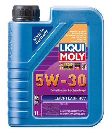 НС-синтетическое моторное масло LiquiMoly Leichtlauf HC 7 5W30 1 л 8541 нс синтетическое моторное масло liquimoly motorbike 4t offroad 15w50 1 л 3057