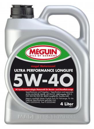 НС-синтетическое моторное масло Meguin Ultra Performance Longlife 5W40 4 л 6486