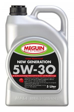 Фото - НС-синтетическое моторное масло Meguin Motorenoel New Generation 5W30 5 л 6513 нс синтетическое моторное масло liquimoly molygen new generation 5w30 205 л 9045