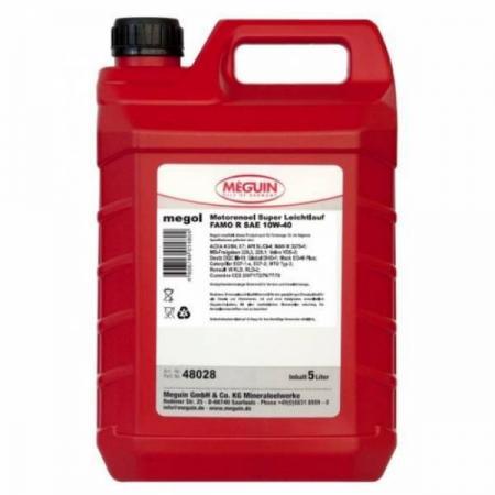 цена на НС-синтетическое моторное масло Meguin Motorenoil Super Leichtlauf FAMO R SAE 10W40 5 л 48028