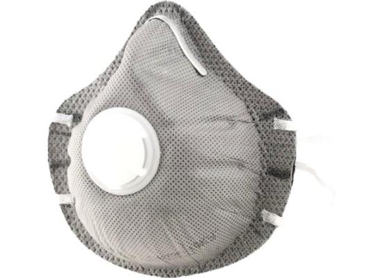 Респиратор от пыли СИБРТЕХ 89246 полумаска фильтрующая c угольным слоем с клапаном выдоха ffp1 респиратор от пыли santool 070212
