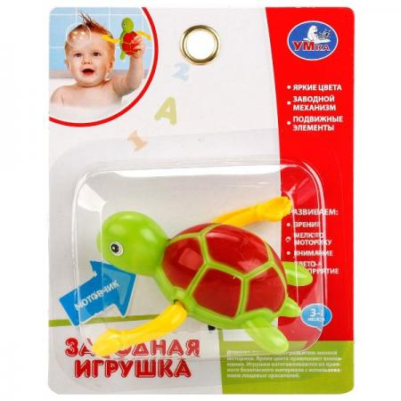 Заводная игрушка Умка Черепашка на блистере (русс. уп.) в кор.2*144шт заводная игрушка для ванны умка черепашка