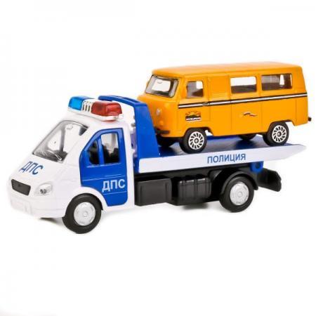 все цены на Эвакуатор ТЕХНОПАРК ГАЗЕЛЬ ЭВАКУАТОР 12 см бело-синий SB-16-42-T1-WB (48) онлайн
