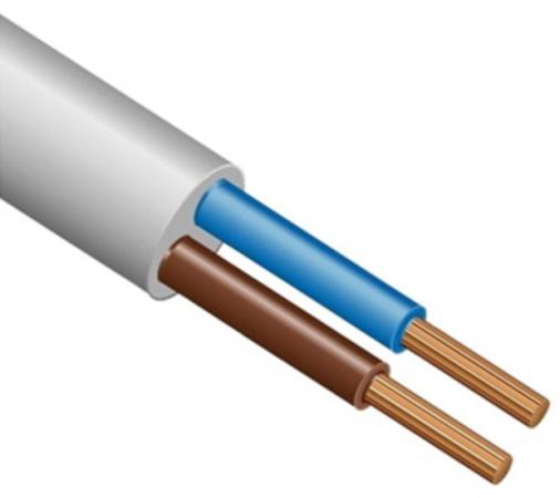 Провод соединительный ПВС РЭК-PRYSMIAN 2x1.5 мм круглый 100м белый