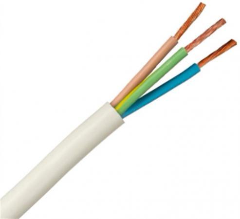 Провод соединительный ПВС РЭК-PRYSMIAN 3x2.5 мм круглый 100м белый провод nymбм j 3х2 5 ту серый 100м мастертока 10345