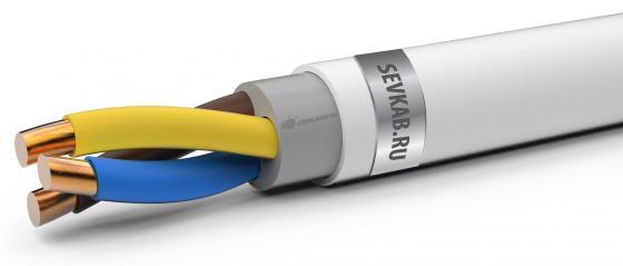 Кабель СЕВКАБЕЛЬ NYM 3х1,5ок(N,PE) 100м ГОСТ IEC 60227-4-2011 кабель nym j 3х1 5 100м гост