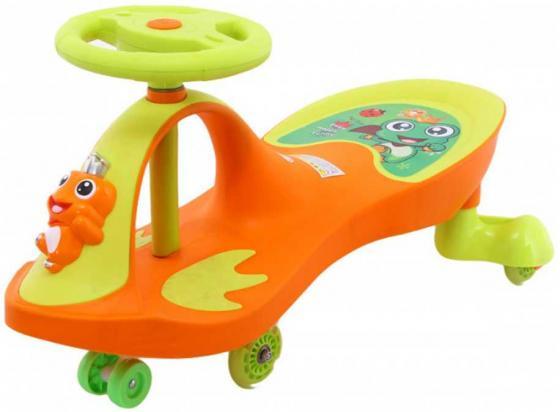 Машинка детская с полиуретановыми колесами «БИБИКАР-ЛЯГУШОНОК» оранжевый Frog Bibicar, orange машинка детская с полиуретановыми колесами салатово оранжевая бибикар bibicar new type orange green colour pu wheels