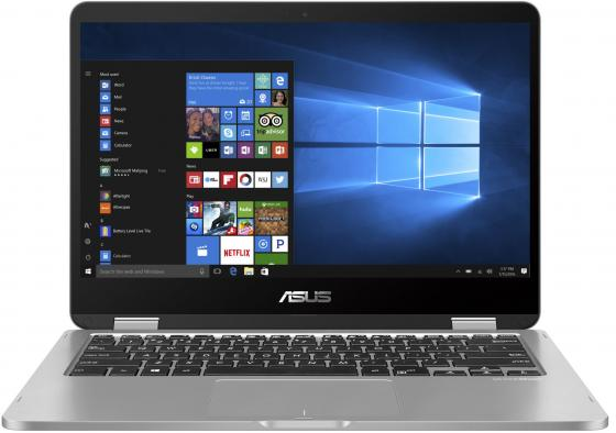 Ноутбук ASUS VivoBook Flip 14 TP401CA-EC104T 14 1920x1080 Intel Core M3-7Y30 128 Gb 4Gb Intel HD Graphics серый Windows 10 Home 90NB0H21-M01850 ноутбук asus x403ma2930 x403ma2940 14