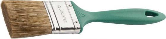 Кисть плоская STAYER 01081-50 lasur-euro смешанная щетина пластмассовая ручка 50мм кисть плоская лазурный берег 70 мм смешанная щетина деревянная ручка