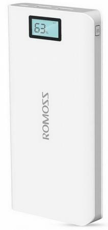 Фото - Универсальный внешний аккумулятор для цифровой техники ROMOSS Solo 6 Plus на 16000mAh (59Wh) USB 5V 2.1А / 1A. Белый. внешний аккумулятор для портативных устройств hiper circle 500 blue circle500blue