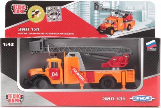Спецтехника Технопарк ЗИЛ 131 АВАРИЙНАЯ 1:43 оранжевый CT10-001-FT1 технопарк машинка инерционная зил 130 аварийная служба
